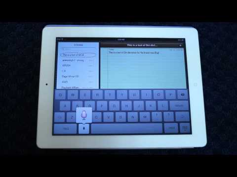 Siri Dictation on New iPad 3 (2012)