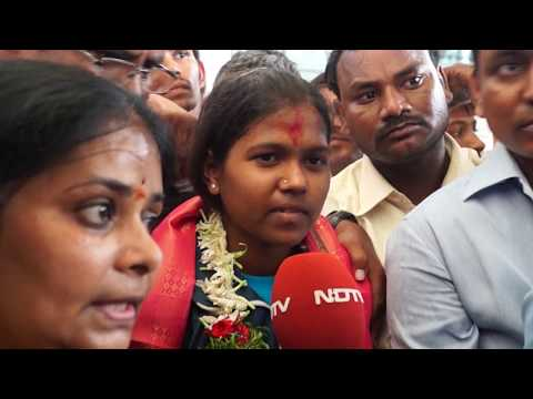 Poorna and Anand of APSWREI success rally in Hyderabad Part 1
