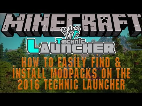 How to install a mod pack on the 2015 technic launcher
