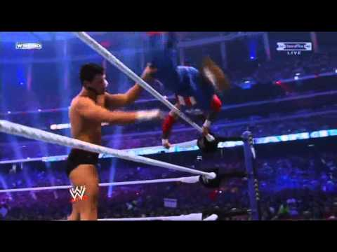 Wwe Wrestlemania 27 - Cody Rhodes Vs Rey Mysterio Highlights Hd video