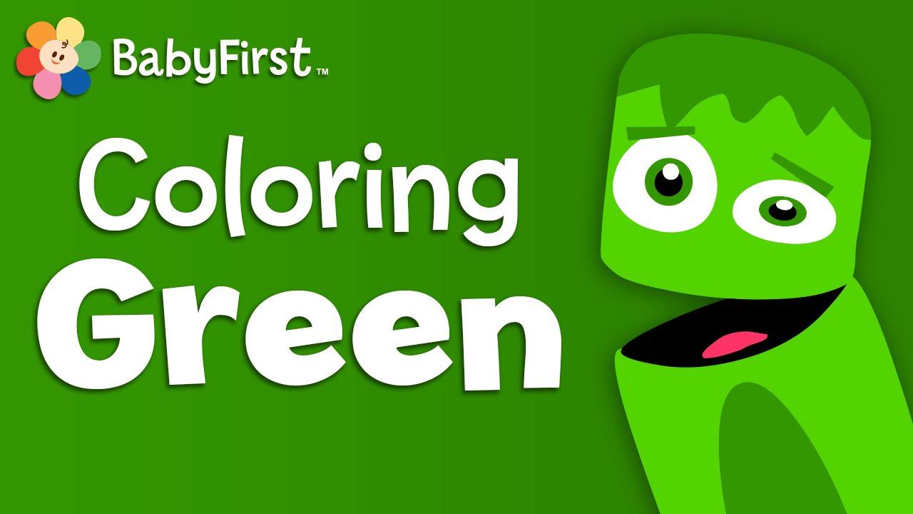 babyfirsttv color crew green learn colors color lesson for kids youtube. Black Bedroom Furniture Sets. Home Design Ideas