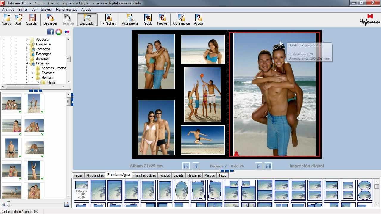 Album digital hoffman album digital swarovski youtube - Como hacer un album de fotos ...
