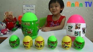 Bóc trứng khủng long đồ chơi - Surprise dinosaur eggs ❤ Anan ToysReview TV ❤