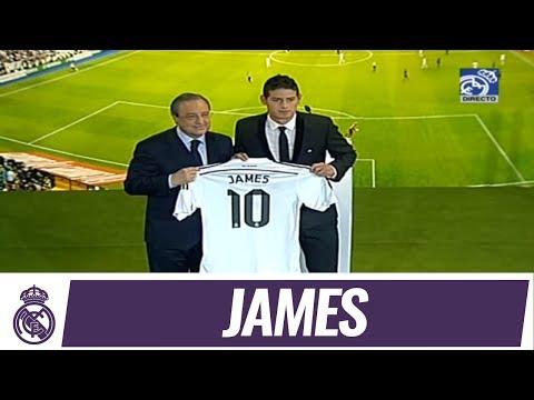 Presentación de James Rodríguez como nuevo jugador del Real Madrid