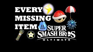 EVERY MISSING ITEM IN Smash Bros Ultimate (Red Shell, Mr.Freezie, HomeRun Bat)