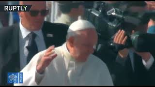 Watch as Pope Francis gets hit in the face by thrown object in Chile
