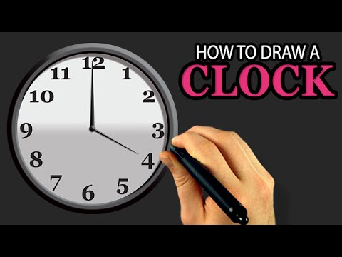 Clock Watch Drawing How to Draw a Clock