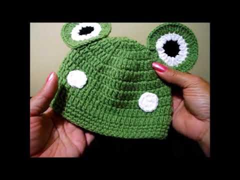 Crochet Gorrito Rana