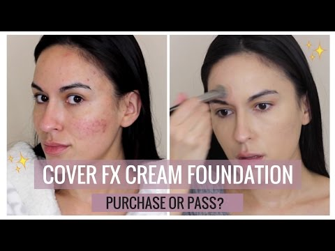 FIRST IMPRESSION: COVER FX CREAM FOUNDATION FOR ACNE/ACNE SCARRING