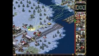Red Alert 2 - 1 vs 7 The Brutal Enemy Strategy! Tesla Tank upgrade