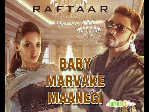 Baby Marvake Maanegi - Raftaar | Nora Fatehi | Remo D'souza | India's first DANCEHALL Song