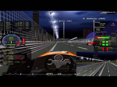 Rfactor - Let´s Fail Race2Play (Formula 4 @ Singapore) Full Race