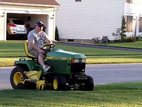 John Deere 445 and Craftsman GT 5000