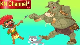 Hoạt hình KN Channel  CUỘC CHIẾN CỦA GÃ KHỔNG LỒ VÀ NGƯỜI DA ĐỎ GIẢI CỨU MÈO VÀ CHÓ