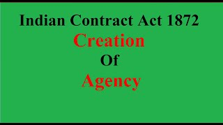 Indian Contract Act 1872  (Hindi) - Creation of Agency