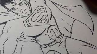 Inking superman
