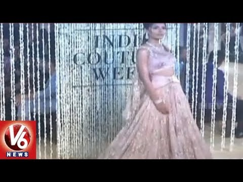 Bollywood Beauty Aditi Rao Hydari Sizzle at India Couture 2018 In Delhi | V6 News