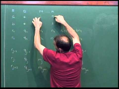 Aritmética - Aula 23 - O algoritmo de Euclides estendido