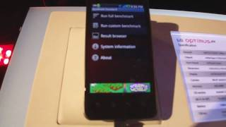 LG Optimus 2X Benchmark at CES 2011 party - SmartKeitai.com
