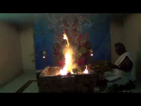 Ganesha Chaturthi Maha Ganapathi Homam Part 2 Vedicfolks video