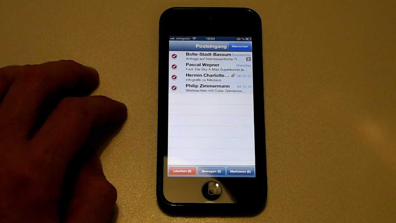 IPHONE 5 TOP TREFFER LÖSCHEN