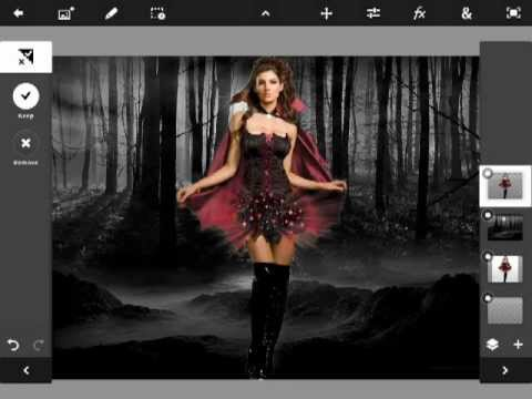 Adobe Photoshop Touch For iOS iPad 4. 3. 2 & iPad Mini