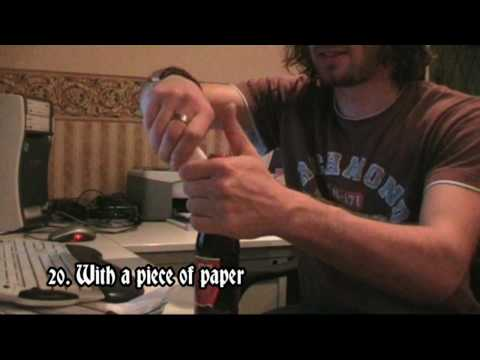 26 Ways To Open Your Beer (HD) (*Including; chainsaw, dishcloth, coin and drill)