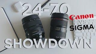 Canon vs. Sigma?? Which is better!?   24-70 f/2.8 Pro Zoom Lens Comparison