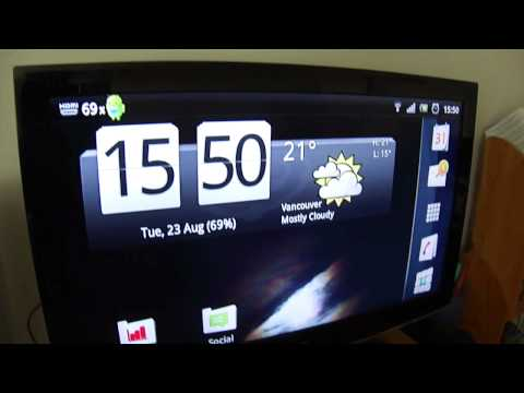 Sony Ericsson Xperia Pro - HDMI Quick Demo