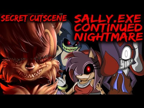 SALLY.EXE CONTINUED NIGHTMARE - EVERYONE SURVIVES + SECRET CUTSCENES [Sonic Horror Game]
