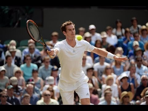 HSBC Play Of The Day: Andy Murray wins amazing rally - Wimbledon 2014