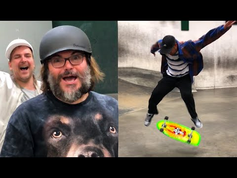 "Jack Black Yells ""DO A KICKFLIP!"" At The Berrics"