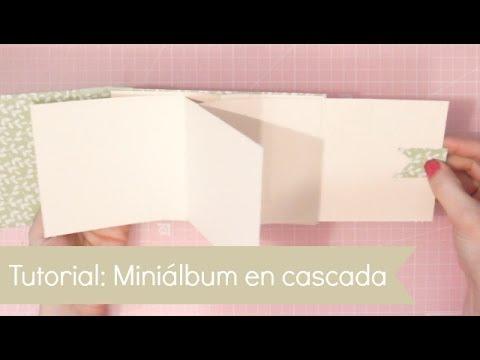 C mo hacer un mini lbum en cascada tutorial scrapbook - Como hacer un album scrapbook ...