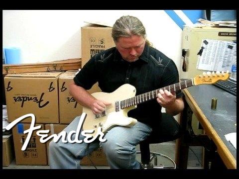 Michael Lee Firkins at the Fender Custom Shop