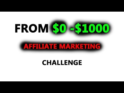 [0-$1000] AFFILIATE MARKETING CHALLENGE NEW ACCOUNT FROM $0 TO $1,000 AFFILIATE MARKETING CASE STUDY