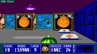 Wolfenstein 3D with Hallowein 3D.Level 10(Secret Level)