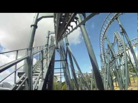 Arkham Asylum POV Roller Coaster Front Seat - Warner Bros. Movie World -GCPARKS.NET
