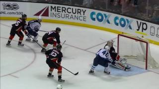 Bernier with a great toe save to deny Armia on a rush