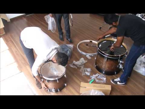 PDP Concept Exotic Drum Kit Shell Pack, Drum Rack Unboxing & Demonstration.