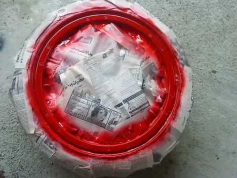 How to paint a Rims - two colors (step by step) HD