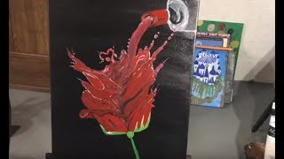 Wine Rose !!!!!🤔|Acrylic Painting