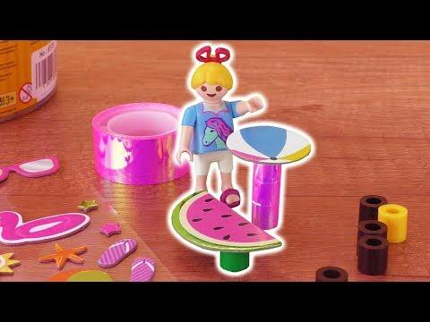 DIY Playmobil Garten Möbel für Familie Vogel | Wassermelonen Tisch selber machen | DIY Kids