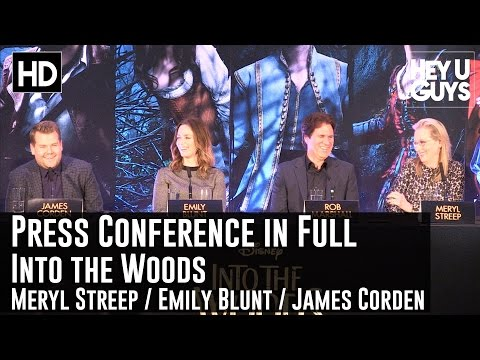 Into The Woods Press Conference #2 In Full - (Streep / Blunt / Corden)