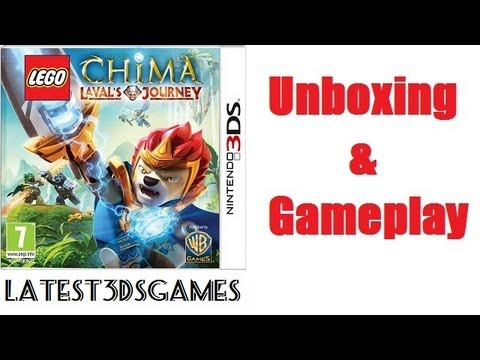 Lego Chima Laval's Journey Nintendo 3DS Unboxing & Gameplay