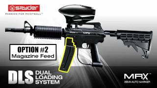 Spyder MRX™ Scenario Paintball Marker w/ Dual Loading System