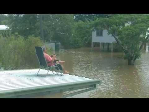 Ingham flood, North Queensland floods,  inundations, crocodiles