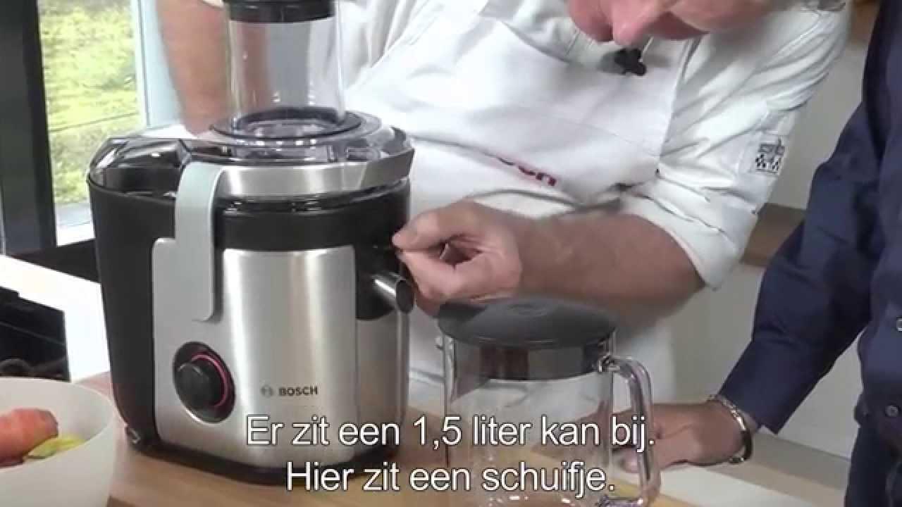 sapjes maken met sapcentrifuge