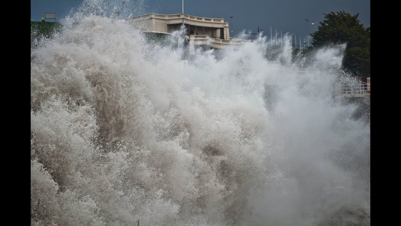 Winter Storms Slam Plymouth uk