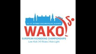WAKO European Championships 2018 Bratislava, Slovakia DAY 3 Ring 1 K1 Style