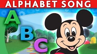 MICKEY MOUSE MINNIE MOUSE DONALD ABC Song Alphabet Song ABC Nursery Rhymes ABC Song for Children
